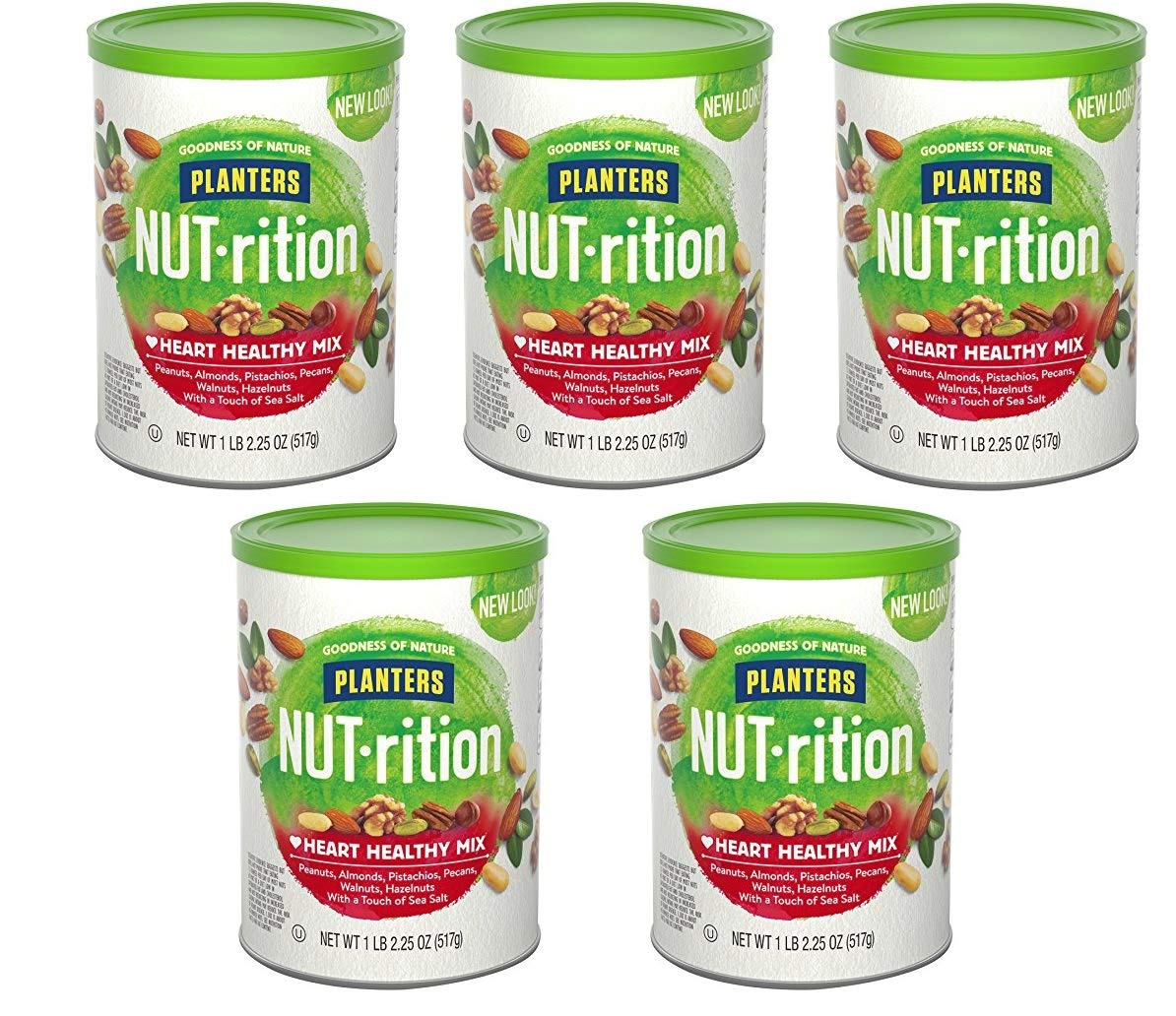 Planters Nutrition Heart Healthy Mix, 5 Tubs