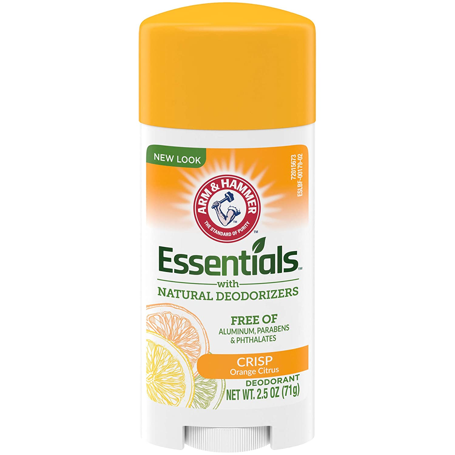 ARM & HAMMER Essentials Deodorant, Crisp Orange Citrus, 2.5 OZ