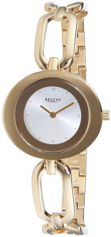 Regent Damen-Armbanduhr Analog Quarz Edelstahl beschichtet 12210917