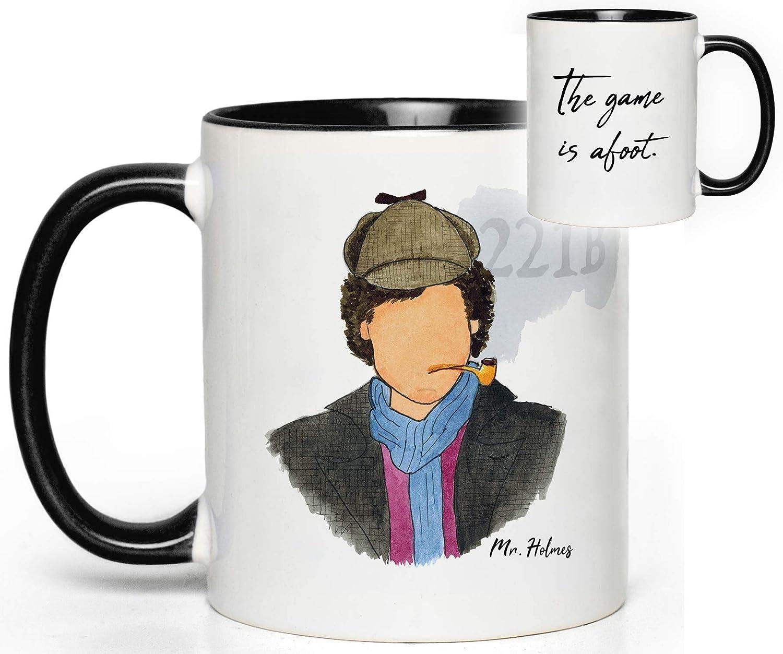 Quote Fan Gift Sherlock Holmes Mug Sir Arthur Conan Doyle, Benedict Cumberbatch