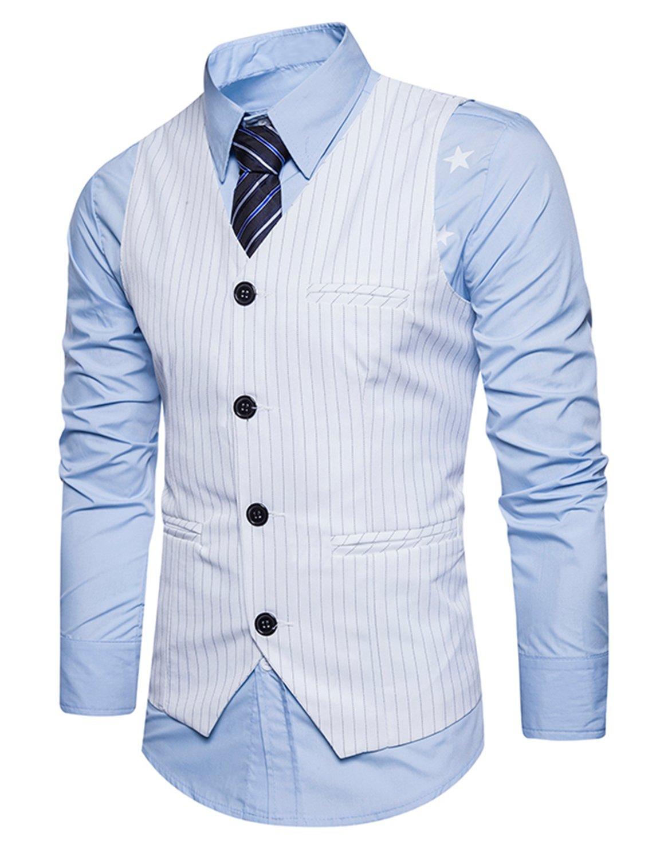 Boom Fashion Hombre Elegante Chaleco de Vestir Casual Negocio Slim Fit  Traje Blazers Sin Mangas UUS0912-10 02aaa336a3a0