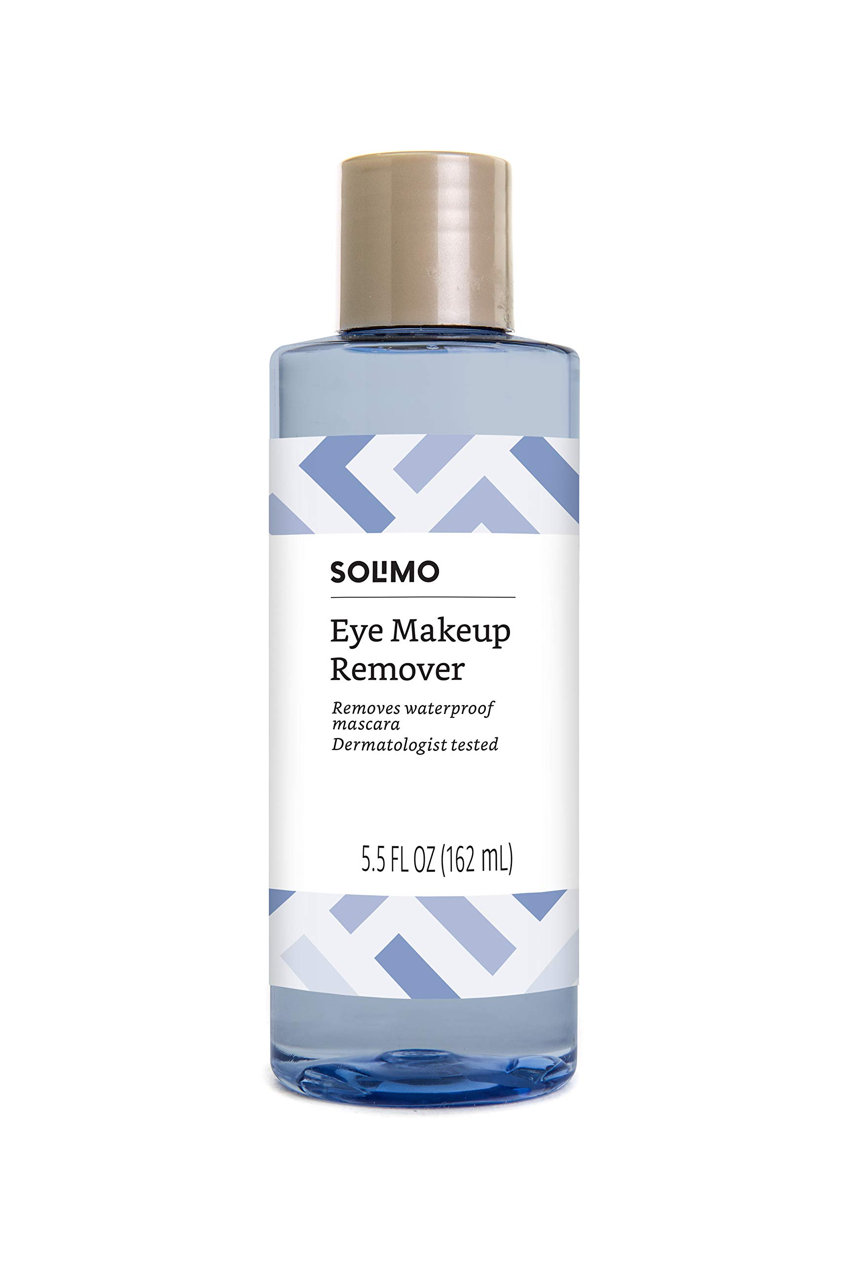 Amazon Brand - Solimo Eye Makeup Remover, Removes Waterproof Mascara, Dermatologist Tested, 5.5 Fluid Ounce