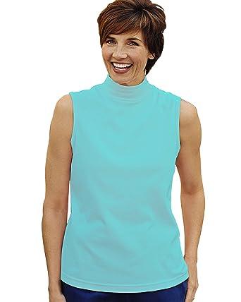 014139b4071741 UltraSofts Sleeveless Mock Top at Amazon Women s Clothing store