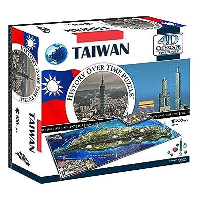 4D Cityscape 4D Taiwan Puzzle: Toys & Games