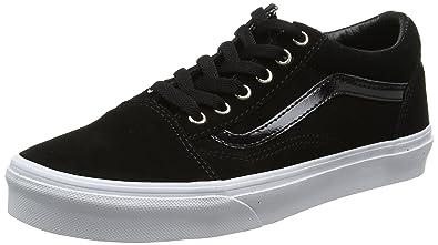 c61ae1600f8 Vans UY Old Skool Black Suede 2.5 M US Little Kid