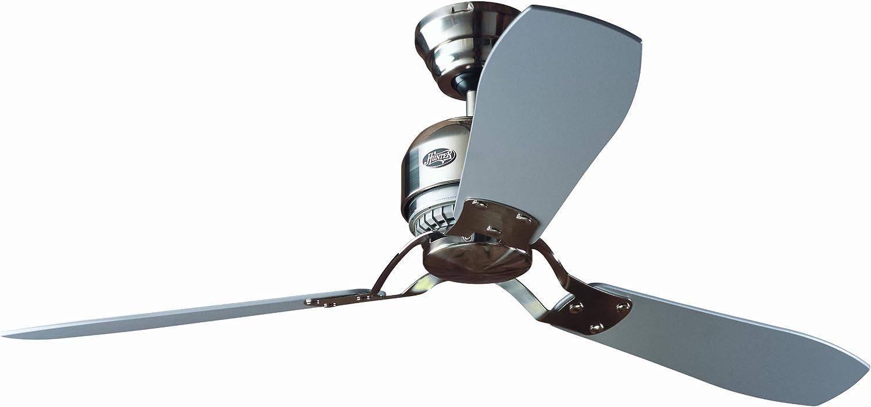 Hunter Industrie II 24542 - Ventilador de techo, 3 palas, color Cromo Mate