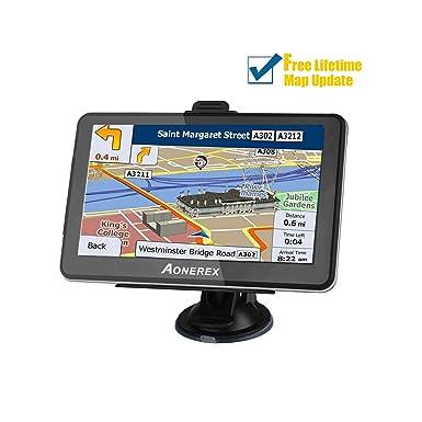 Navegador GPS para coche, 7 pulgadas, portátil, negro, GPS, navegador,
