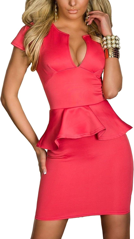 TALLA XL. Boliyda Bodycan de corte bajo vestido delgado Slim club vestido informal para las mujeres Negro&blanco XL