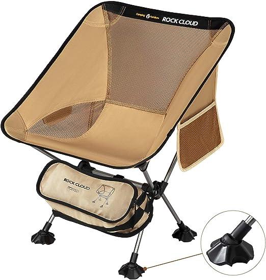 Folding Camping Bed Outdoor Bag Lightweight Portable Travel Beige Light Hiking