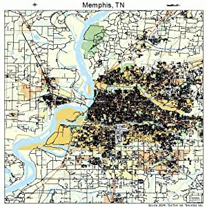 Amazon Com Large Street Amp Road Map Of Memphis Tennessee