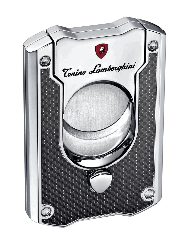 Tonino Lamborghini Le Mans Carbon Fiber Cigar Cutter, Black