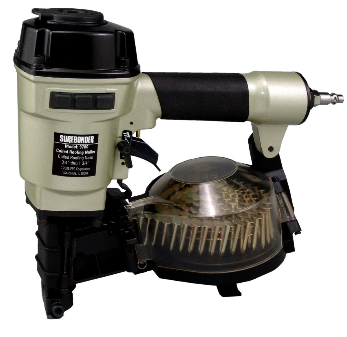 Surebonder 9780 Pneumatic Coiled Roofing Nailer With Carrying Case   Power Roofing  Nailers   Amazon.com