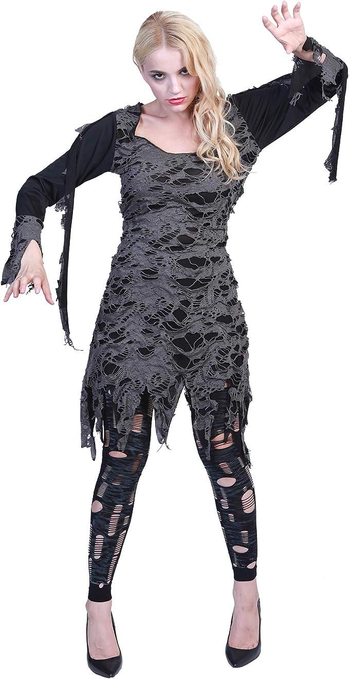 EraSpooky Mujer Halloween Zombie Living Dead Disfraz: Amazon ...