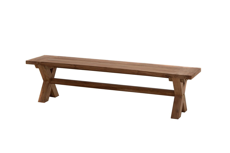 plo massivholzbank lincoln 180 cm gartenbank mit x beinen sitzbank f r 4 personen. Black Bedroom Furniture Sets. Home Design Ideas