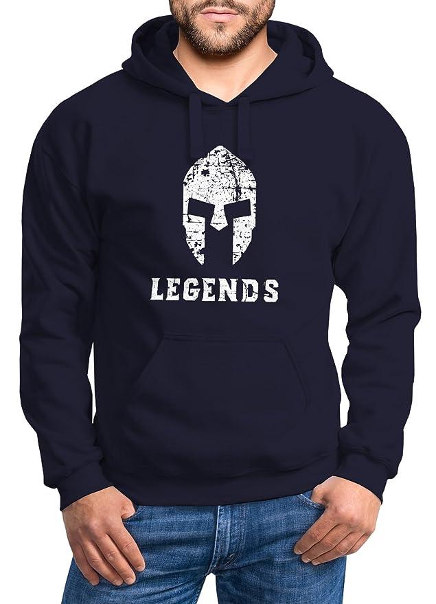 Hoodie Herren Legends Sparta Spartaner Helm Neverless Sweatshirt Kapuze  Kapuzenpullover Neverless®: Amazon.de: Bekleidung