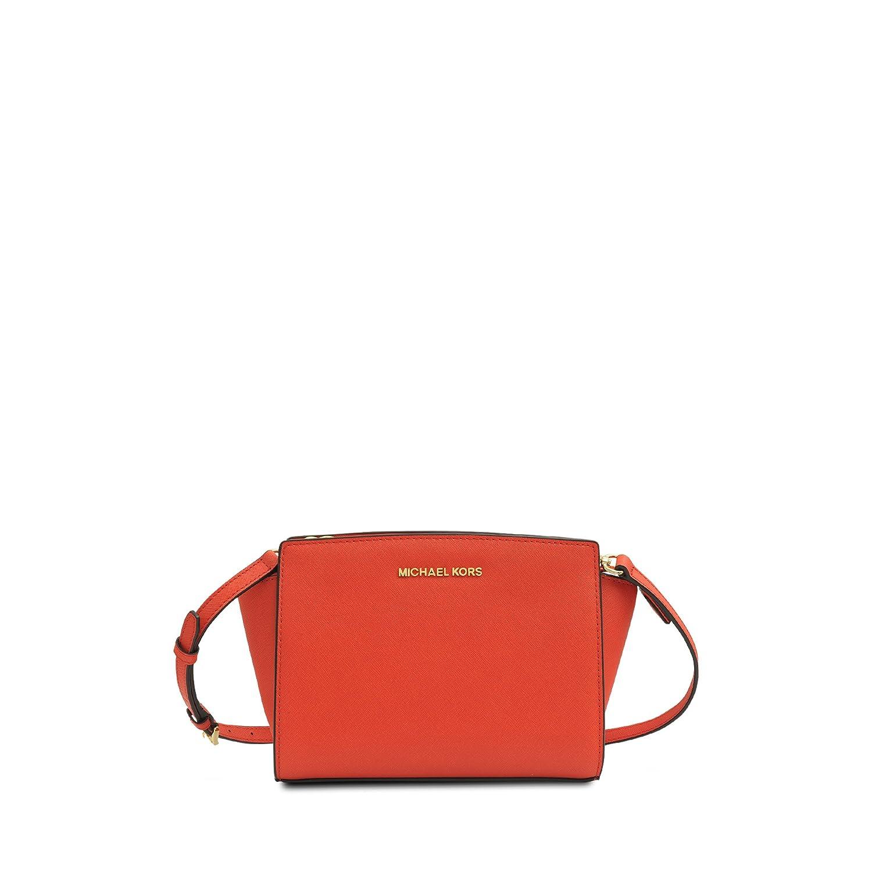 f5c33ef0f22b Michael Kors Selma Saffiano Leather Medium Messenger Bag - Mandarin:  Amazon.ca: Luggage & Bags