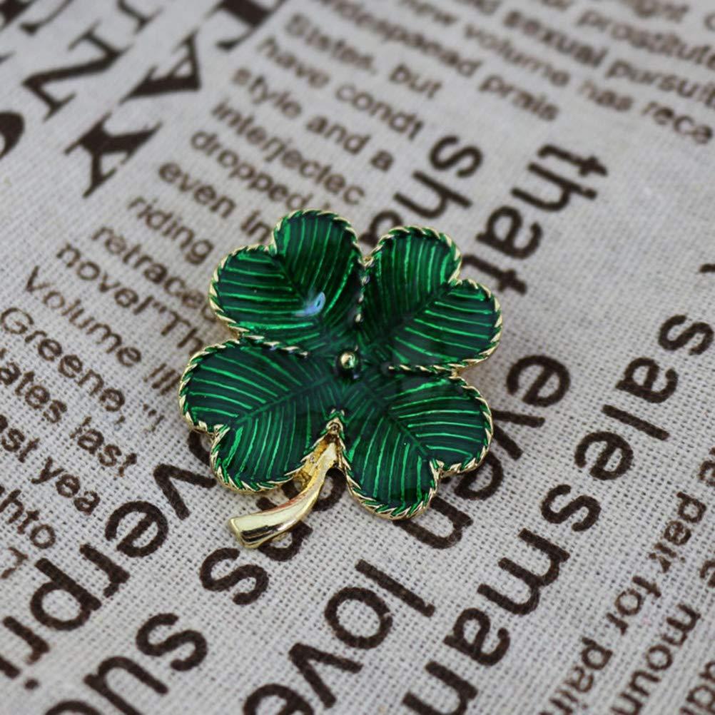 Verde tr/ébol bufanda Pin//broche