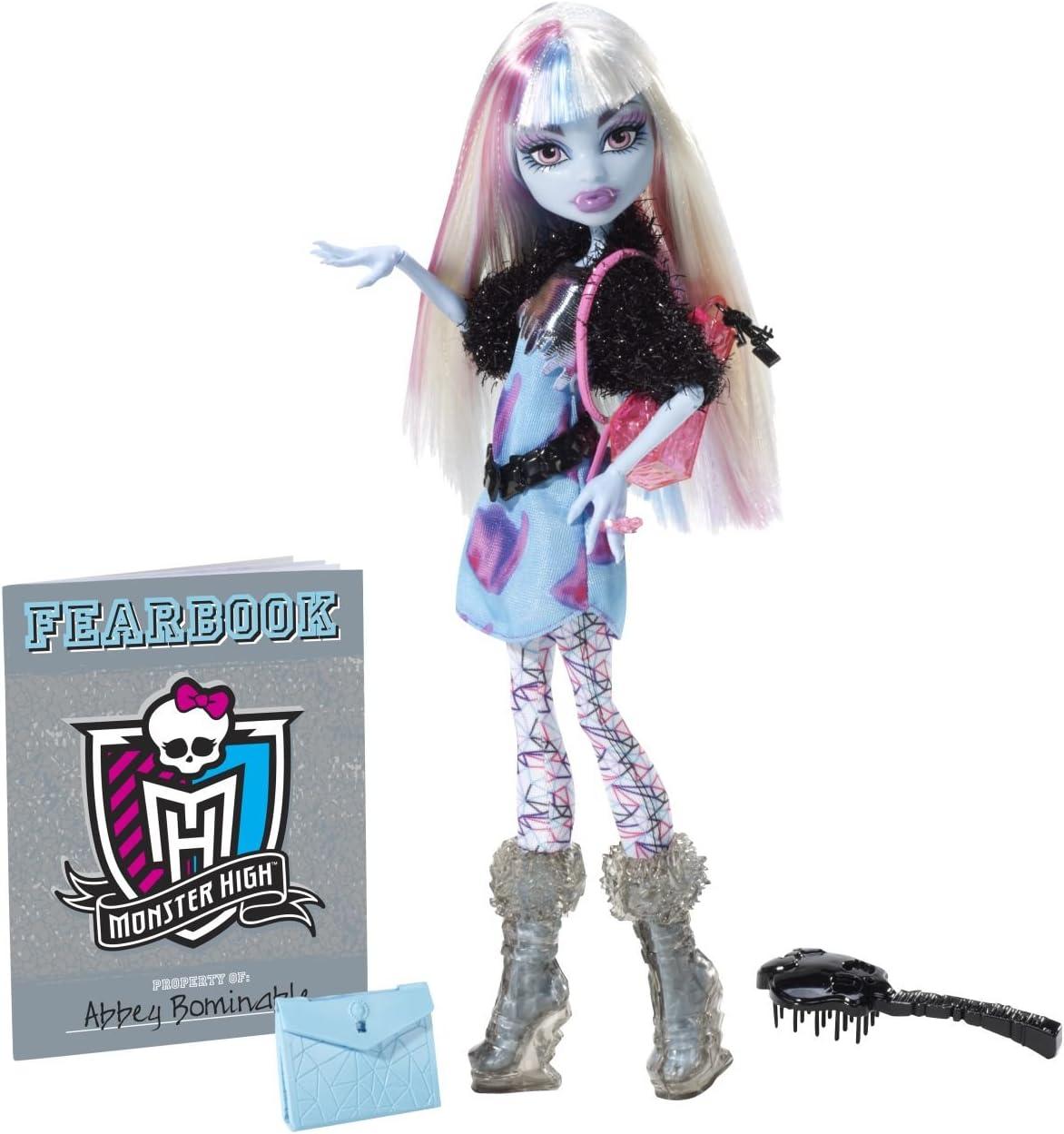 Amazon.es: Mattel Y8499 - Muñeca Monster High (Incluye anuario Escolar), diseño de Abbey Bominable: Juguetes y juegos