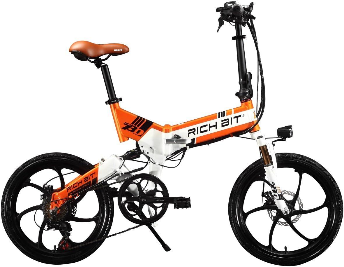 Bicicleta eléctrica bicicleta plegable RT730 Ciclismo 250 W * 48V ...