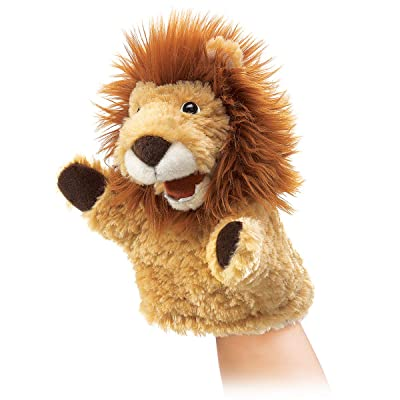 Folkmanis Little Lion Hand Puppet: Toys & Games
