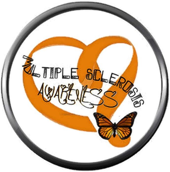 Multiple Sclerosis MS awareness bangle bracelet orange ribbon spoon spoonie snowflake ladies stainless steel expandable womens gift for uk