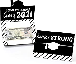 product image for Big Dot of Happiness Senior Strong - Class of 2021 Graduation Party Money and Gift Card Holders - Set of 8