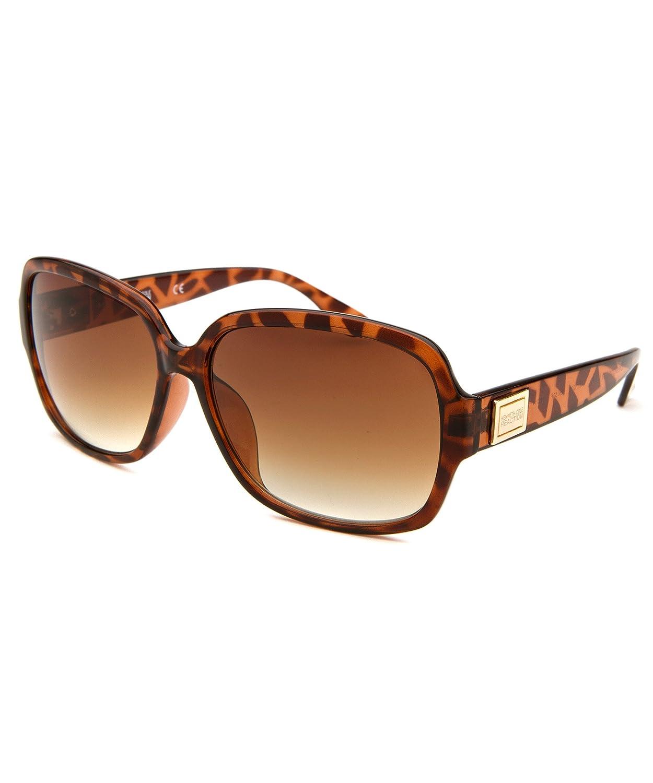 Kenneth Cole Reaction Women's Square Tortoise Sunglasses Brown Lens