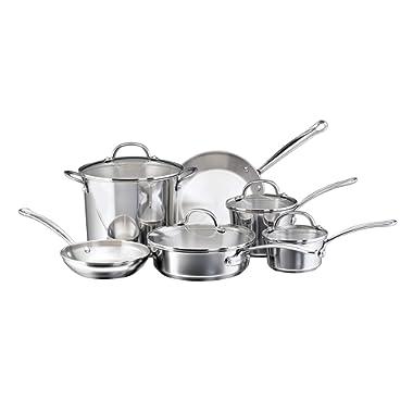 Farberware 75653 Millennium Cookware Set, 10-Piece, Silver