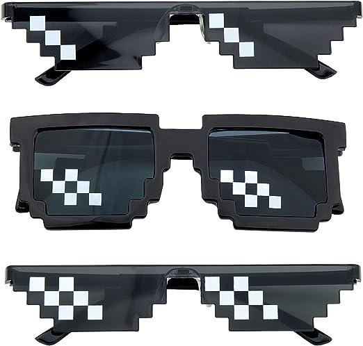 Dise/ño de Mosaico Comius Sharp 3 Pack Mosaico Gafas de Sol Para Hombre y Mujer Gafas Thug Life