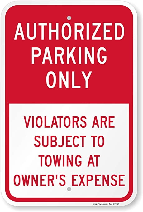 AUTHORISED PARKING ONLY SIGN VARIOUS SIZES SIGN /& STICKER OPTIONS