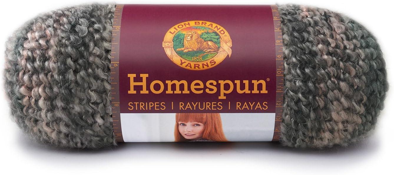 Lion Brand Yarn 790-239 Homespun Yarn, Stonewashed Stripes