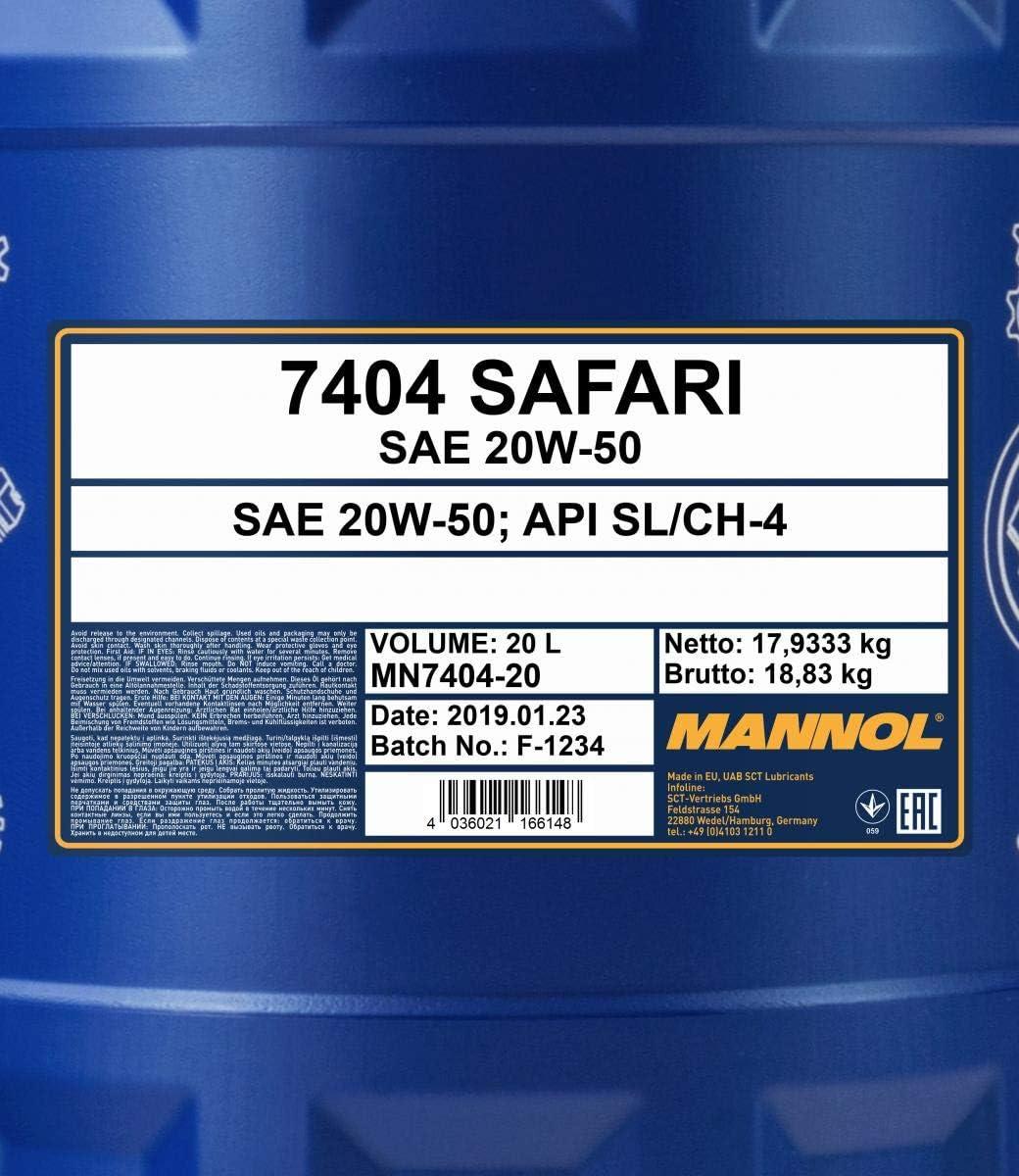Mannol 20l Safari 20w 50 Engine Oil Api Sl Cf Universal Oil Outlet Tap For Vintage Cars Auto