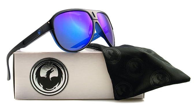 Amazon.com  Dragon Experience 2 Sunglasses Jet Blue Blue Ionized ... f80a7efa40555