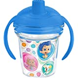 Tervis Nickelodeon Bubble Guppies Sippy Cup with Blue Lid, 6 oz, Clear