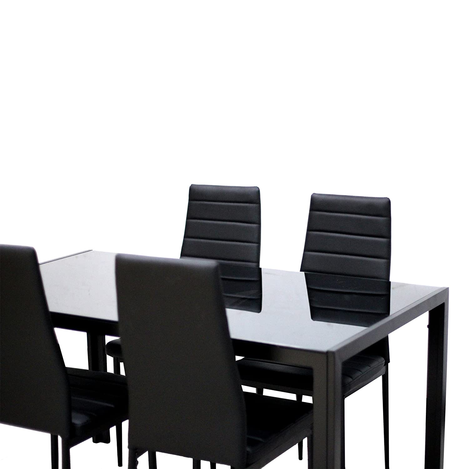 Amazon IDS 5 Piece pact Dining Table Room Set for 4 With