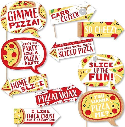 Amazon.com: Funny Pizza Party Time – Kit de accesorios para ...