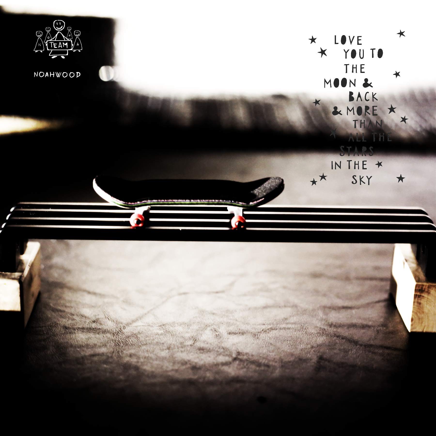 NOAHWOOD Wooden PRO Fingerboards (Deck,Truck,Wheel / a Set) (Happy New Year I) by NOAHWOOD (Image #8)