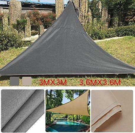 Dedeka - Toldo de protección Solar Triangular para jardín, Patio, Piscina, toldo para Acampada al Aire Libre, Gris, 3.6 * 3.6m: Amazon.es: Hogar