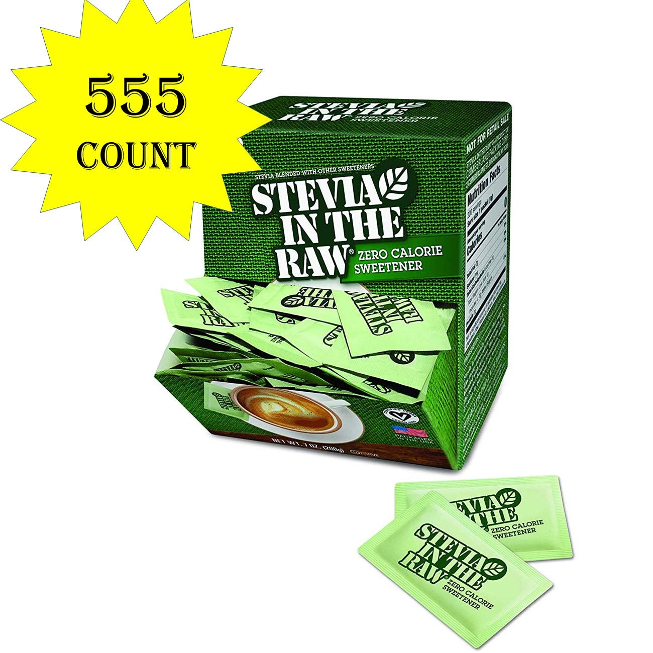 Stevia In The Raw, 555 Count (555 Count total) by In The Raw