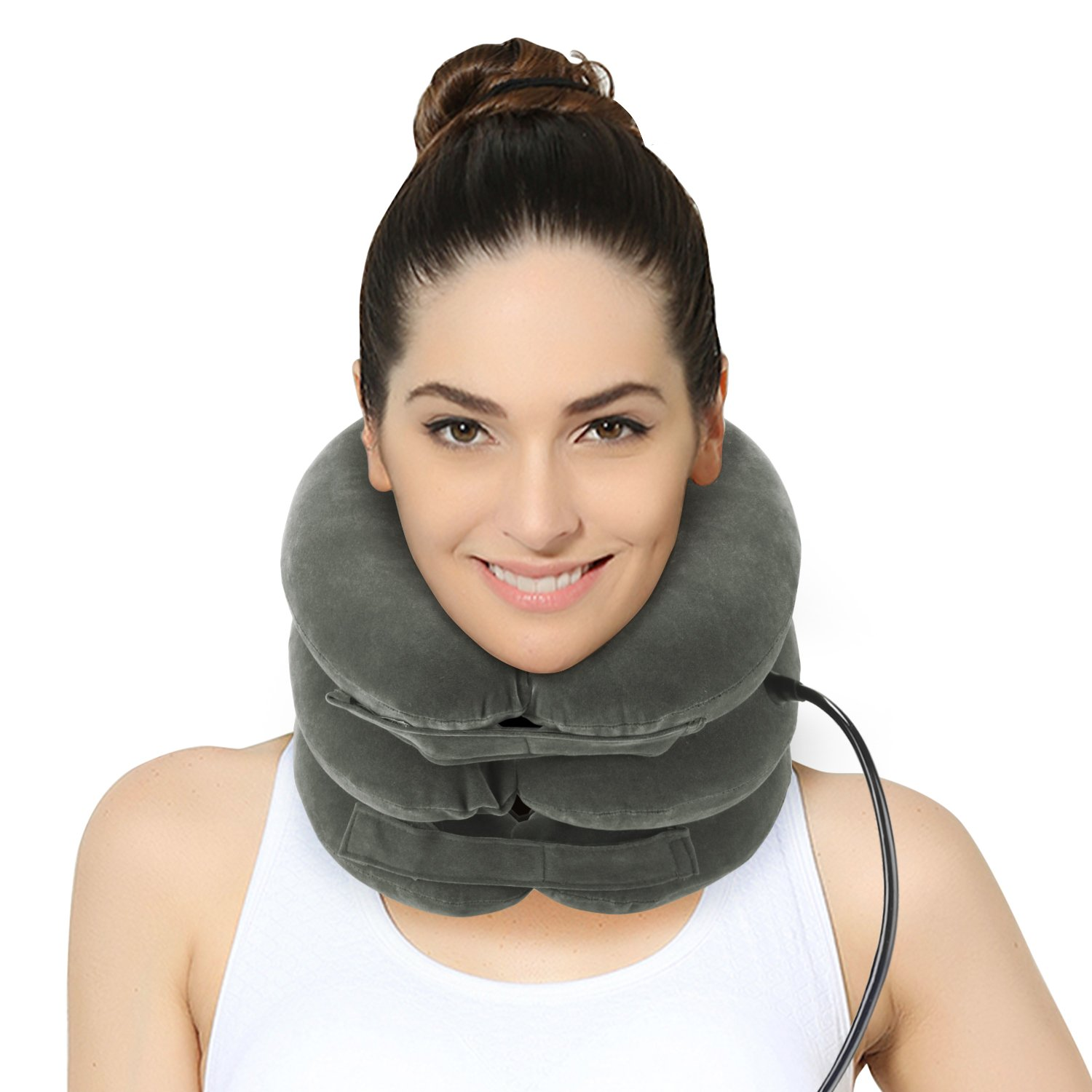 P PURNEAT Cervical Neck Traction Device – Instant Pain Relief for Chronic Neck and Shoulder Pain [2018 Upgraded] Effective Alternate Pain Relieving Remedy