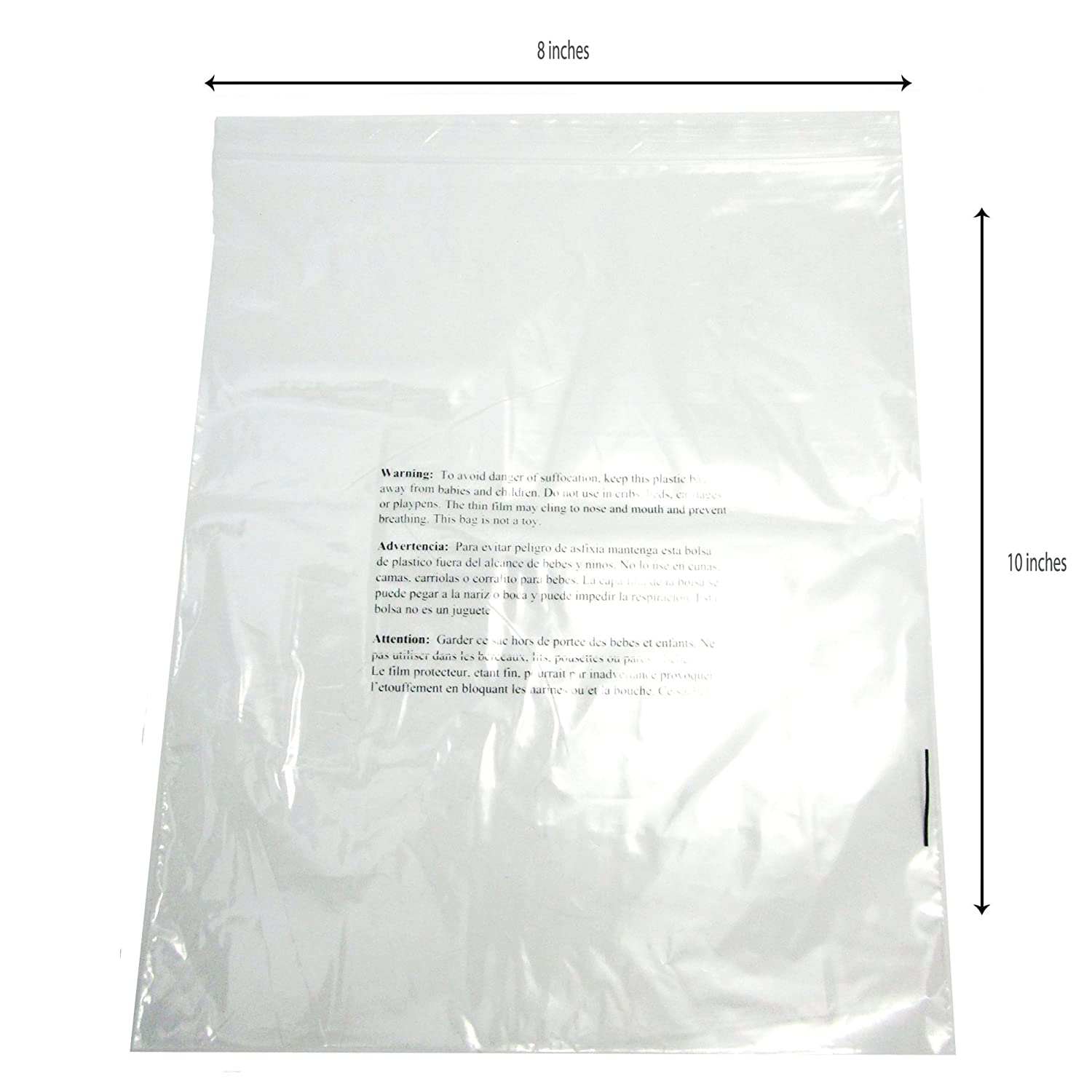 Amazon.com: 8 x 10 Self Sealing transparente Poly Bolsas ...