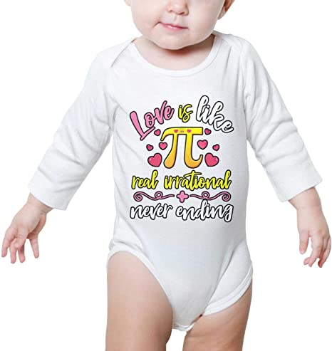 PoPBelle Circumference Day Pi Day Celebrate Newborn Clothing Long Sleeve Natural Organic Cotton Soft