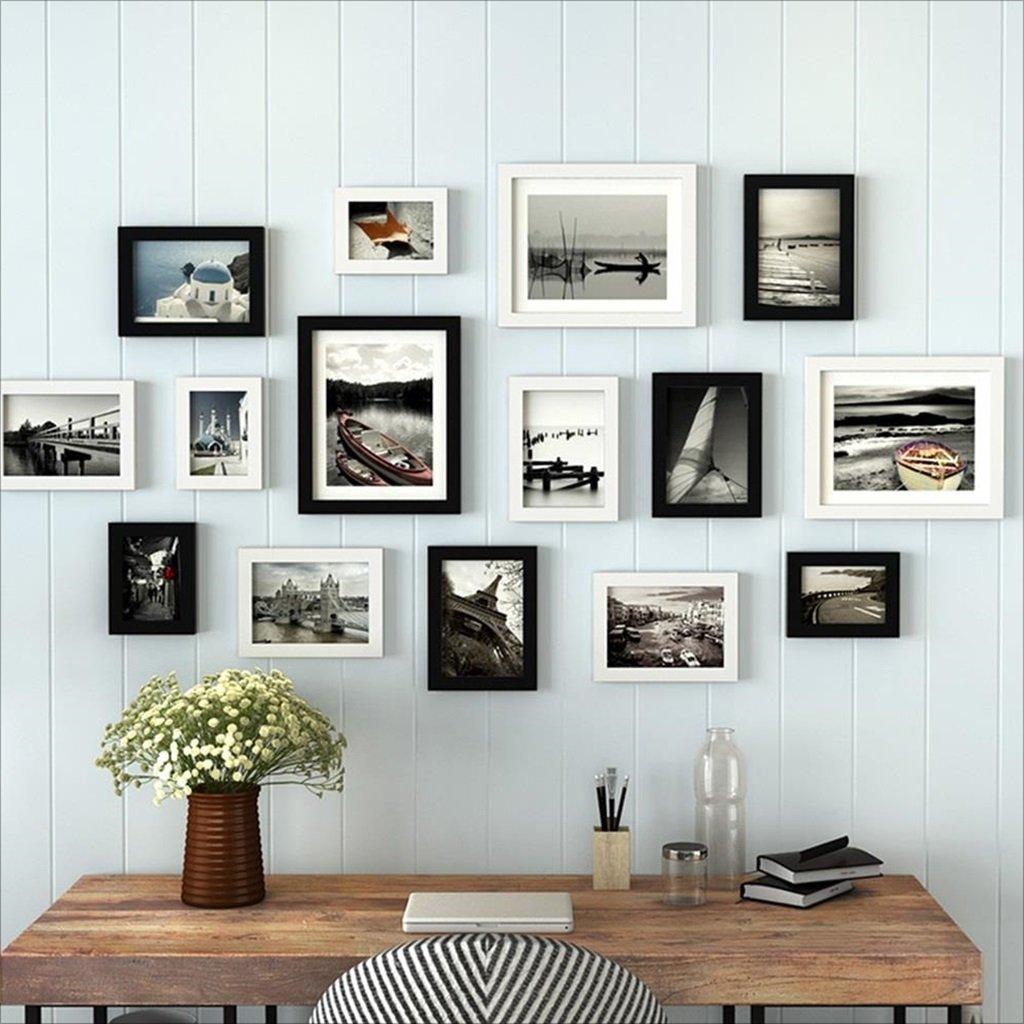 Rahmen Fotorahmen, Wandrahmen-Set mit 15 hochwertigen Rahmen, großer ...