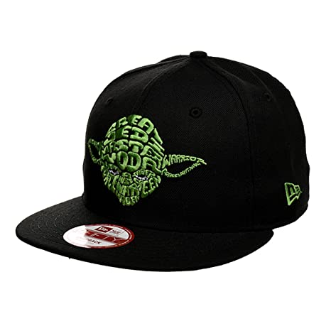 Amazon.com  New Era Star Wars Word Yoda Snapback Hat (Black)  Toys ... b57512df624