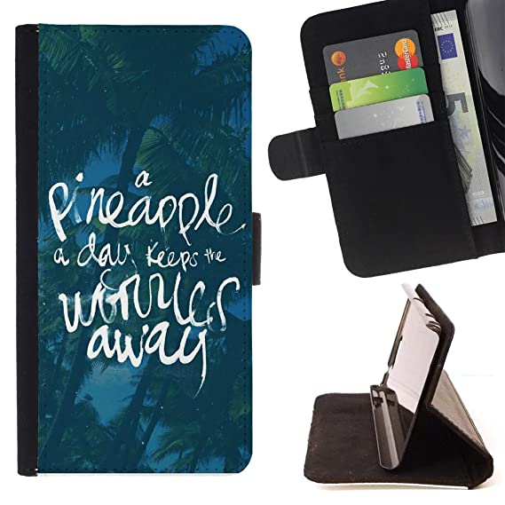 FJCases U0026quot;A Pineapple A Day...u0026quot; Summer Quote Slim Wallet