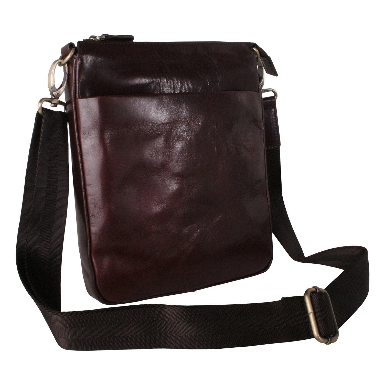 Fine Italian Leather Travel Bag in Dark Brown by Giglio Fiorentino