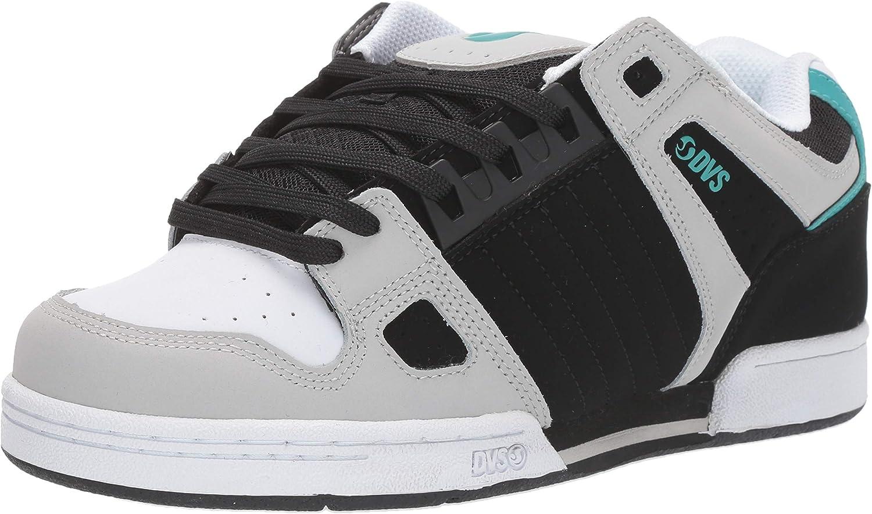 DVS Celsius Mens Nubuck Leather Grey Black Skate Shoes UK Size 6-12
