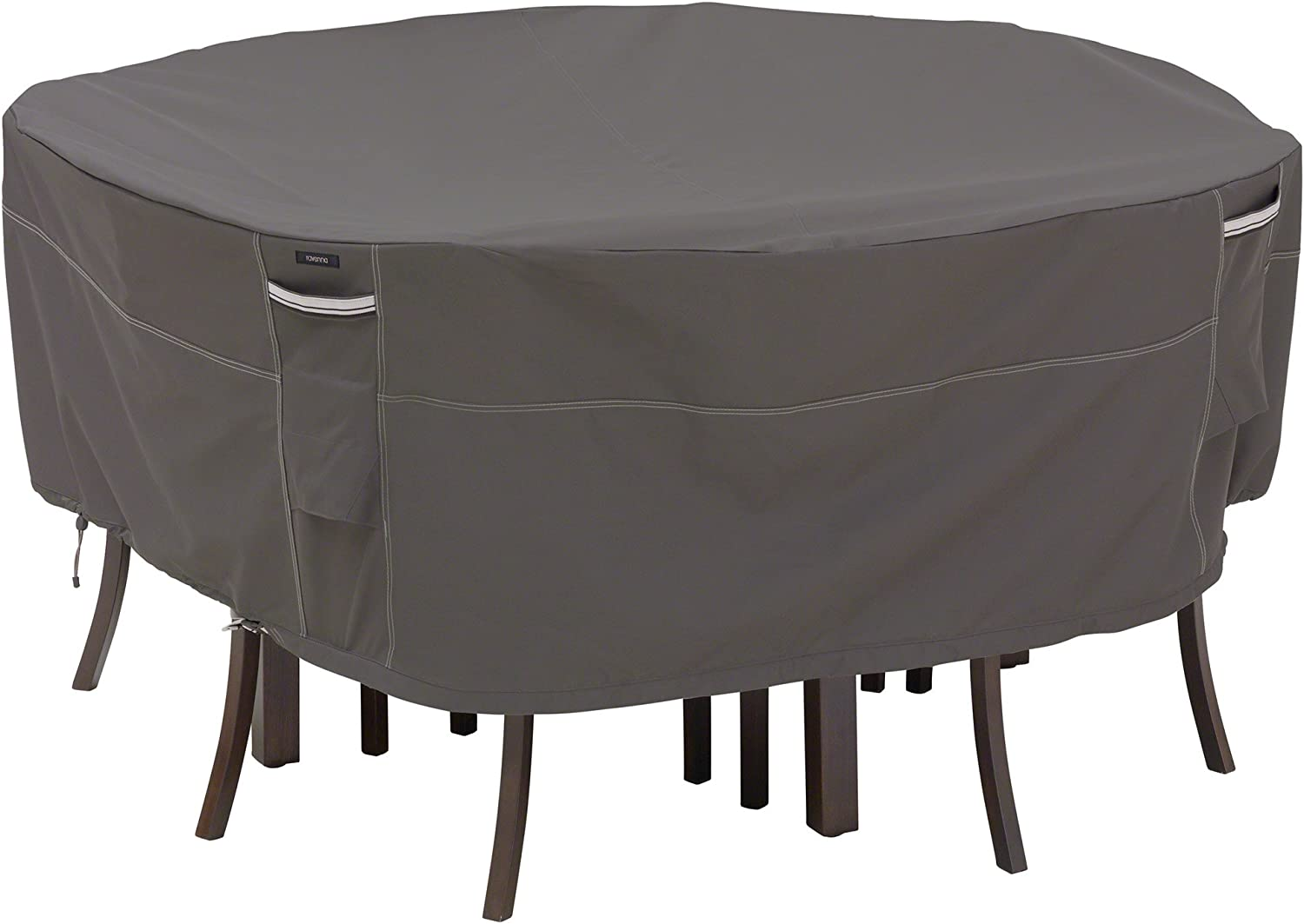 Classic Accessories Ravenna Round Patio Table Chairs Cover, Medium Large