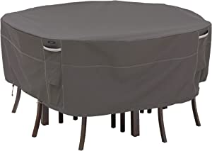 Classic Accessories Ravenna Round Patio Table & Chair Set Cover, Large