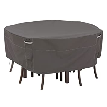 Classic Accessories Ravenna Round Patio Table U0026 Chair Set Cover   Premium Outdoor  Furniture Cover With